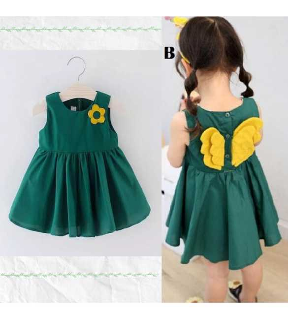 Dress anak perempuan angel wing